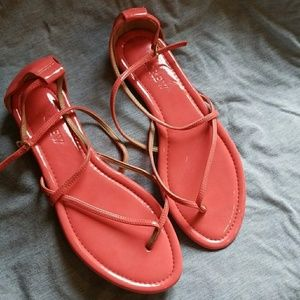 J Crew Pink Audra Patent Leather Strappy Sandal